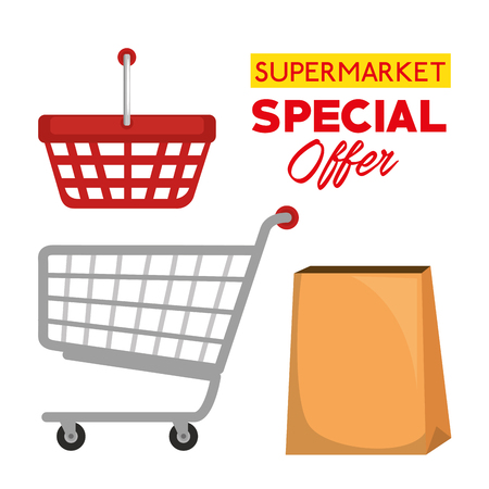 supermarket special offer icons vector illustration design