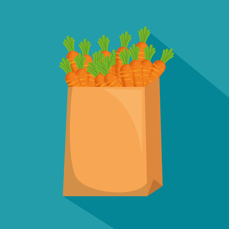 carrots in shopping bag vector illustration design Banque d'images - 102282653