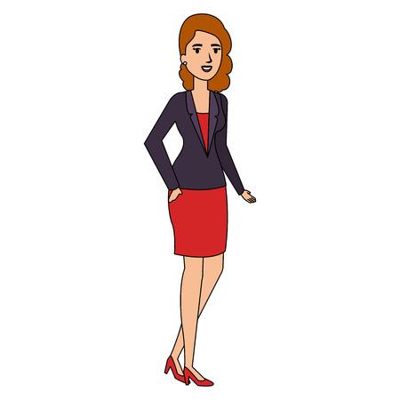 businesswoman avatar character icon vector illustration design Standard-Bild - 102353749