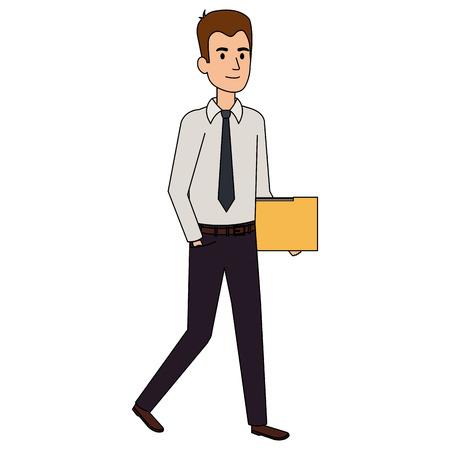 businessman with folder avatar character vector illustration design Ilustrace