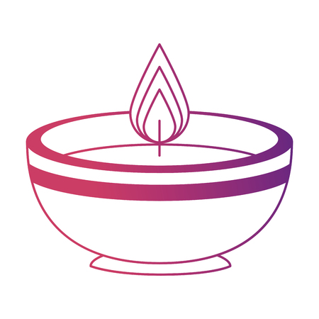 ceremonial candle isolated icon vector illustration design