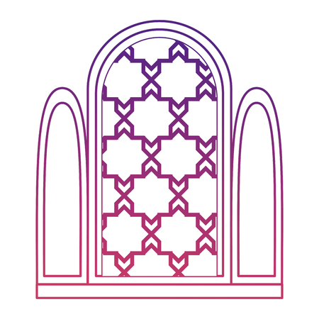 window of temple icon vector illustration design