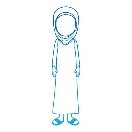Muslim woman avatar character vector illustration design