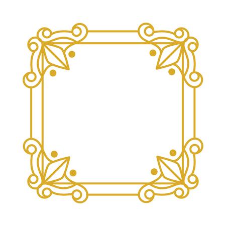 victrorian elegant frame icon vector illustration design