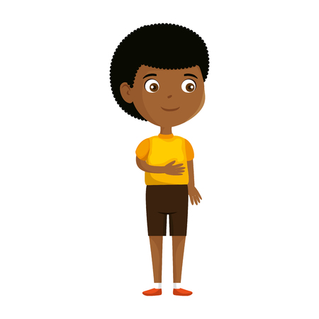 kleiner Charakter schwarzer Charakter Vektor-Illustration Design Vektorgrafik