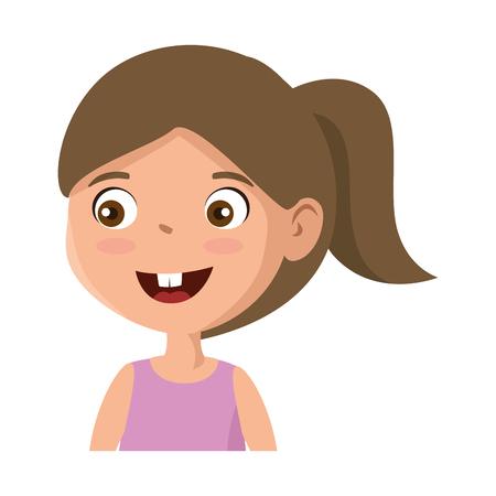 little girl daughter character vector illustration design Stock Vector - 102261528