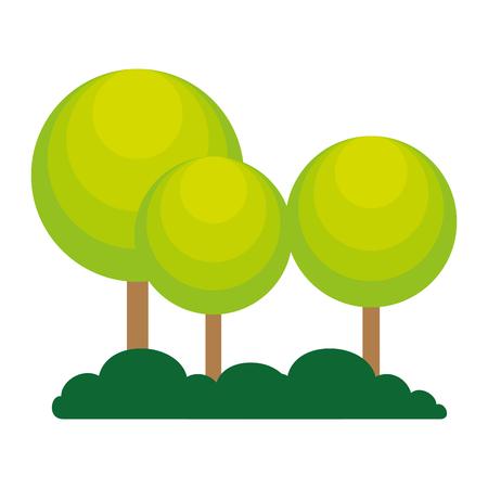 trees plants forest icon vector illustration design Stockfoto - 102261577