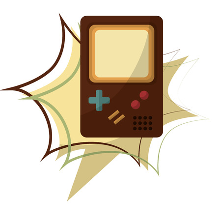 game pad retro style vector illustration design