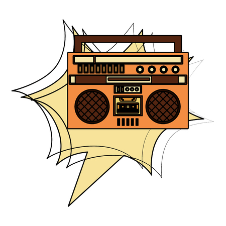 radio music retro style vector illustration design Imagens - 102240896