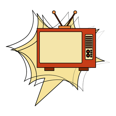 tvs old retro style vector illustration design Çizim