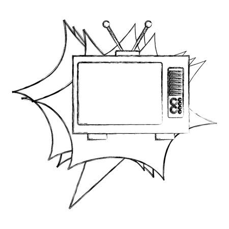 tvs old retro style vector illustration design Reklamní fotografie - 102241113