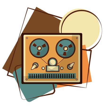 video tape player retro vector illustration design
