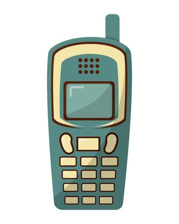 vieux téléphone portable style rétro illustration vectorielle conception