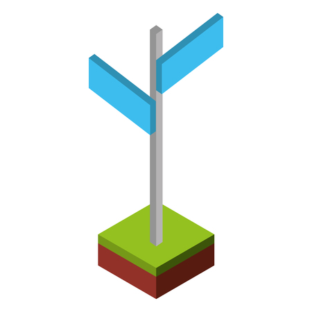 stick with signaling isometric icon vector illustration design