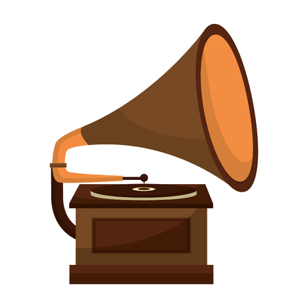 gramophone music retro icon vector illustration design Stockfoto - 102243559