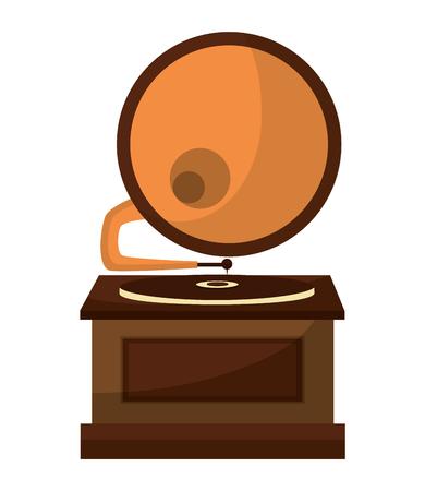 gramophone music retro icon vector illustration design Stockfoto - 102243560