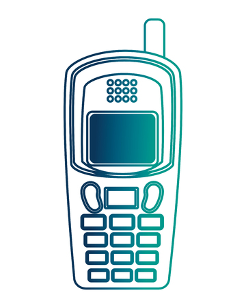 old cellphone retro style vector illustration design