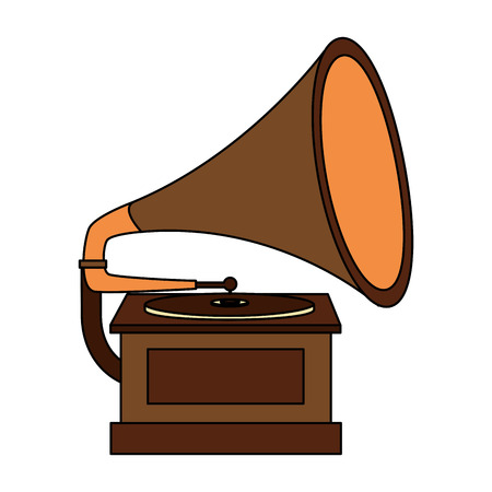 gramophone music retro icon vector illustration design