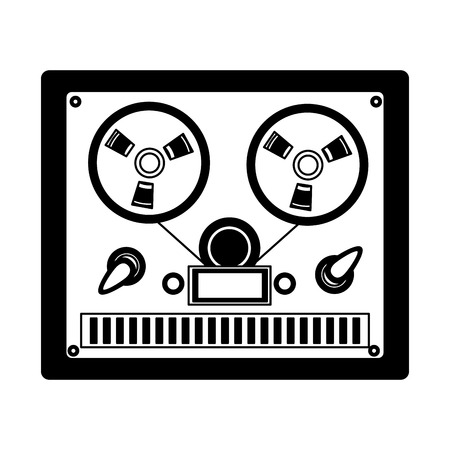 video tape player retro vector illustration design