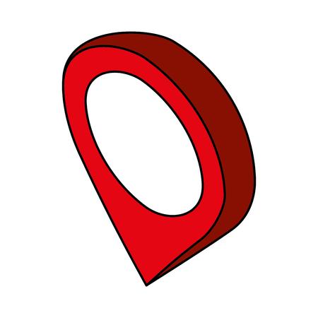 pin pointer location isometric icon vector illustration design