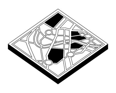 map guide isometric icon vector illustration design