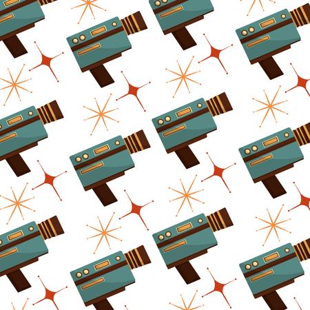 retro handy camera pattern vector illustration design Illustration