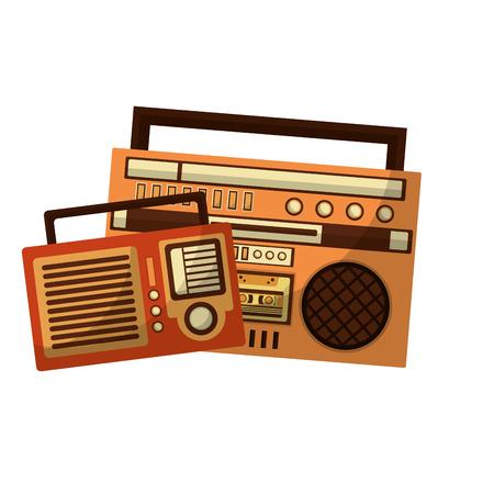 radios music retro style vector illustration design Çizim