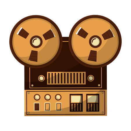 old video camera retro style vector illustration design 向量圖像