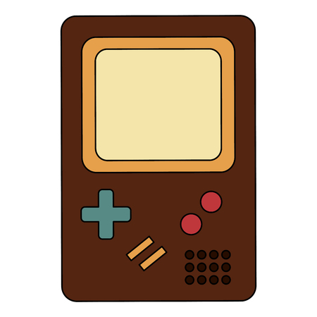 game pad retro style vector illustration design