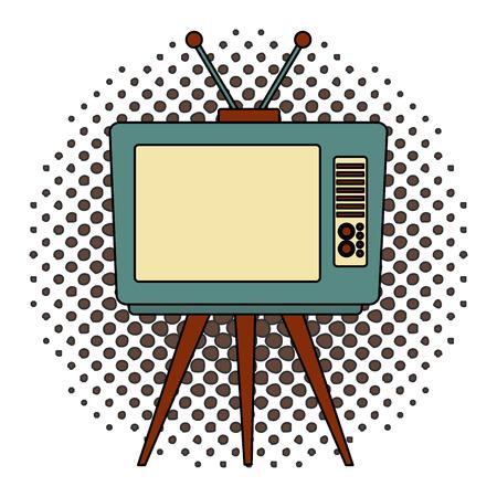 tvs old retro style vector illustration design Ilustrace