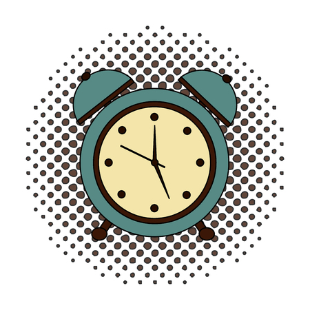alarm clock retro style vector illustration design