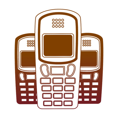 old cellphones retro style vector illustration design Banque d'images - 102261683
