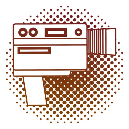 retro handy camera isolated icon vector illustration design