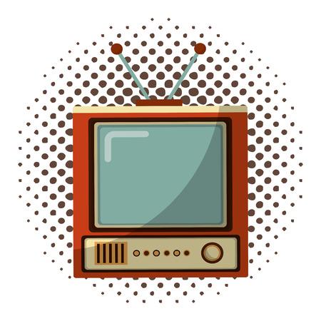 tvs old retro style vector illustration design 版權商用圖片 - 102262391