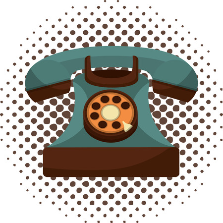 retro telephone vintage style vector illustration design Ilustracja