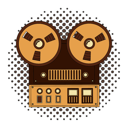 old video camera retro style vector illustration design Ilustração