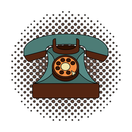 retro telephone vintage style vector illustration design Illusztráció