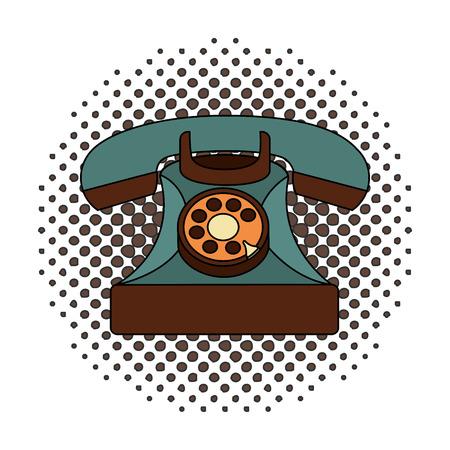 retro telephone vintage style vector illustration design Illustration
