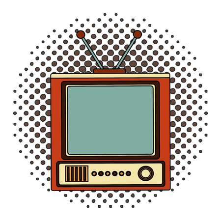 tvs old retro style vector illustration design Ilustração
