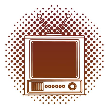 tvs old retro style vector illustration design Stock Illustratie