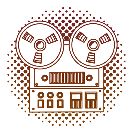 old video camera retro style vector illustration design Illustration