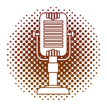 microphone music retro style vector illustration design Illustration