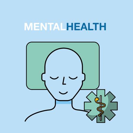 patient resting mental health care vector illustration