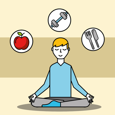 patient sitting meditating mental health care vector illustration Illustration