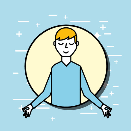 patient meditating mental health care vector illustration