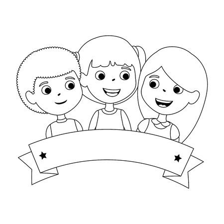 children of different ethnic groups vector illustration design Standard-Bild - 102262379