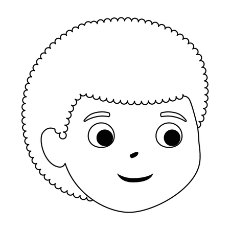 little boy son head character vector illustration design Stock Vector - 102263997