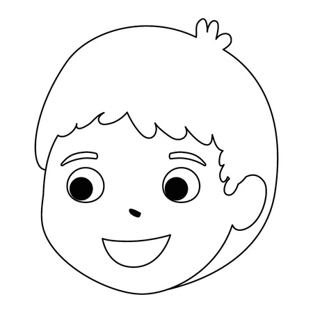 little boy son head character vector illustration design Stock Vector - 102262487
