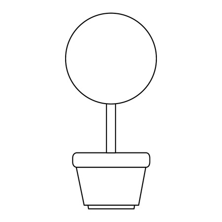 tree plant in pot icon vector illustration design