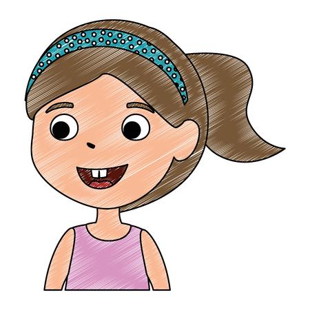 little girl daughter character vector illustration design Stock Vector - 102264010